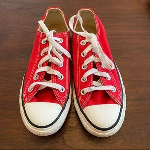 Red All Star Converse Unisex Sneakers Size 6